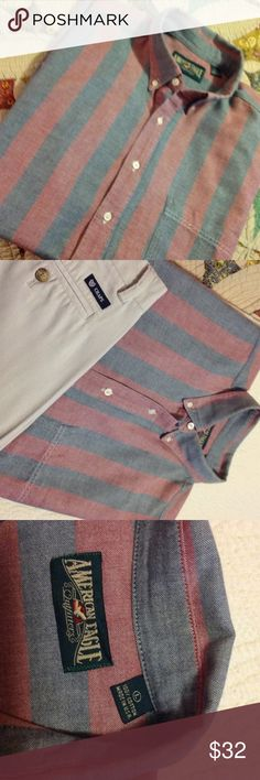 Beautiful button down shirt with stripes Soft comfortable 2 colors comfortable shirt from American Eagle American Eagle Shirts Casual Button Down Shirts