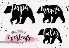 Bear Family, Bear Family Quotes, Bear Family Graphics, Bear Family PNG, Clipart Bear, Quotes, Word Art, Digital Quotes, Overlays, Photo Overlays, Photographer Overlays, Little Girl Overlays, Baby Quotes, Fierce Quotes, Sugar and Spice Quotes, Digital Art, PNG Quotes