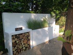 Platoflex Muren - Waterval - Doorkijk - Tuin Tuin inspiratie moderne strakke design tuin. Tuin idee buitenkeuken