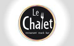 Le Chalet : restaurant / snack / bar au bord du lac de Villeneuve de la Raho (66). Création de #logo #restaurant