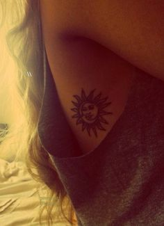 The Perfect sun and moon tattoo for my mom