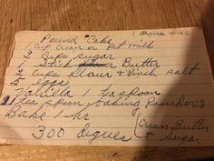 Aunt Anna Sue Hill's Pound Cake