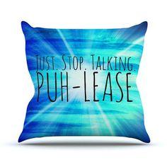 KESS InHouse Puh-lease by Ebi Emporium Throw Pillow Size: