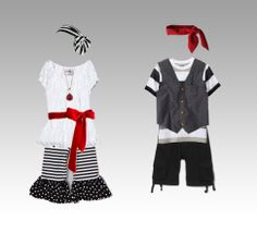 girl/boy pirate outfits ~ styling by Tammi Ambrose Photography