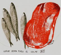 CARNE CRUDA PARA EL GOLPE by ELBARCODEPAPEL, via Flickr
