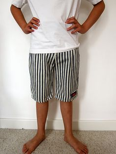 stripy shorts