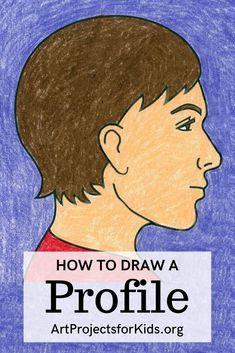 Self Portrait Drawing, Side Portrait, Profile Drawing, Portrait Art, Painting For Kids, Drawing For Kids, Rock Painting, Drawing Projects, Art Projects