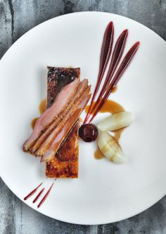 Breast of Duck Tarte Fine of Caramelised Endive & Cherry Puree