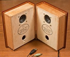 Book-style speaker box!