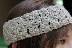 Crocheted Linen Blend Headband by ThePurpleTreebySarah on Etsy