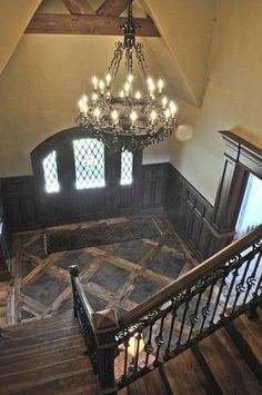 Loving the stair railing and the Floor! English Tudor - traditional - entry - oklahoma city - Brent Gibson Classic Home Design Tudor Cottage, Tudor House, Home Design, Interior Design, Oklahoma City, Lofts, English Tudor Homes, English Manor, Halls