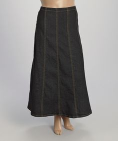 Look at this #zulilyfind! Be Girl Clothing Black Denim Maxi Skirt - Plus by Be Girl Clothing #zulilyfinds