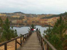 Corta de explotación minera a cielo abierto de San Telmo (Huelva)