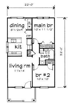 First Floor Plan Of Bungalow House Plan 72771 But Iu0027d Make The Two Smaller