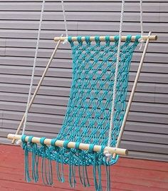Relax on your porch in a comfortable macrame hammock you can DIY with easy-to-follow instructions from eHow.