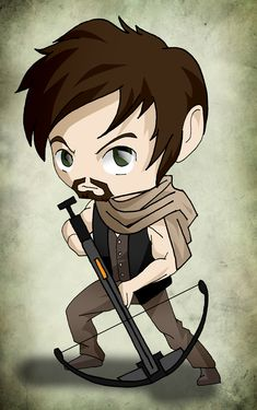 Chibi Art TWD: Daryl by issue53.deviantart.com on @deviantART