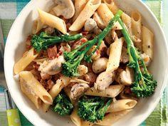 Spek-en-broccolipasta. Hierdie pasta is altyd 'n wenner in enige huis – vinnig en maklik en baie smaaklik.