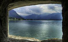 Download wallpapers Lake Geneva, 4k, mountains, Europe, HDR, Switzerland