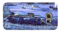 David Bridburg Galaxy S6 Case featuring the digital art Inv Blend 18 Van Gogh by David Bridburg