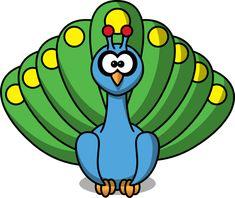 Cute Cartoon Baby Peacock | Cartoon Peacock