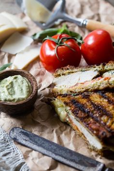 Grilled Chicken Pesto Panini @FoodBlogs