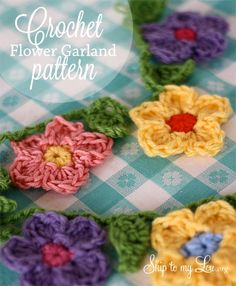 Crochet Flower garden pattern from Skip to My Lou blog; so springy and pretty! Wonderful for a party