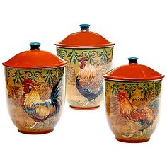 Tuscan Style Cannister Set Oh These Are Lovely Not Old But Still Gorgeous Interior