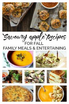 Apples aren't just for pie discover these delicious savoury apple recipes perfect for fall family meals and entertaining this year. Quick Family Meals, Healthy Family Meals, Healthy Work Snacks, Healthy Recipes, Healthy Food, Yummy Food, Apple Recipes, Fall Recipes, Dinner Recipes
