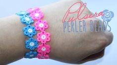 Pulsera de flores con Perler Beads ( Ideal para los más peques)