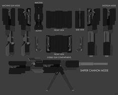 [OC Weapon Comm:] Blitzkrieg by Sci Fi Fantasy, Fantasy Weapons, Weapon Storage, Weapon Concept Art, Rwby, Shotgun, Cannon, Minions, Arches