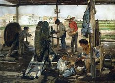 Ropemakers - Joaquín Sorolla -- Completion Date: 1893