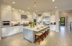 Flooring color is great for kitchen living combo Kitchen Pantry, Kitchen Living, Kitchen Ideas, Up House, Floor Colors, Other Rooms, Custom Homes, Home Kitchens, Hardwood