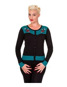 Banned Emily 50s Style Swallow Tattoo Cardigan