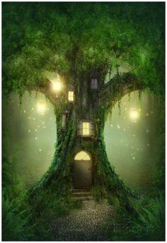 Fantasy Tree House Poster