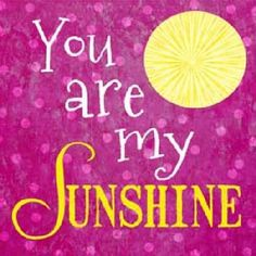 You Are My Sunshine Pink by Summer Snow