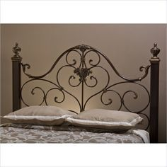 Hillsdale Mikelson Headboard in Aged Antique Gold Finish - 1648HX - Lowest price online on all Hillsdale Mikelson Headboard in Aged Antique Gold Finish - 1648HX