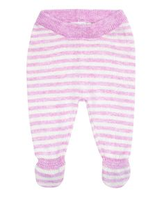 Take a look at this Pink Stripe Footie Pants - Infant on zulily today!