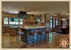 LOVE this open kitchen! This is def for us!