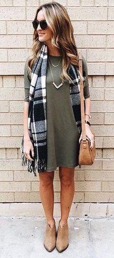 da8f942f68b Best Fall   Winter Fashion Trends for Women 12. Green Dress ...