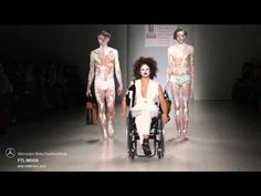 Disabled Models hit the catwalk at FTL Moda's FW15 fashion show - YouTube