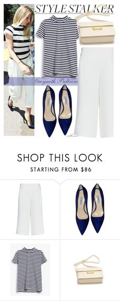 """""""Gwyneth Paltrow"""" by arethaman ❤ liked on Polyvore featuring Style Stalker, Jaeger, Prada and Just Female"""