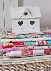 pretty pile of quilts