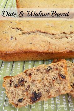 Sticky, chewy delicious Date and Walnut Bread ~ quick & easy, no kneading and tastes heavenly slathered with Butter !  {recipe yields TWO loaves}