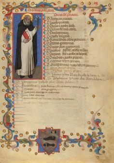Saint Dominic, Niccolò di Giacomo da Bologna (Italian, active 1349 - 1403). J.P. getty Museum