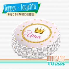 Cumple princesa - Tarjetita souvenir princesa para imprimir - comprar online