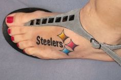 "Steelers tattoo... this is cute.. but idk that I could actually go through with getting a ""steelers"" tat.... hmmm"