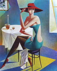 Artist Georgy Kurasov, the painter, the sculptor Cubist Artists, Art Deco Artists, Cubism Art, Arte Pop, Paint Photography, Georges Braque, Illustration Art, Illustrations, Retro Art
