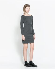 ZARA - NEW THIS WEEK - DRESS WITH FRONT SEAMS