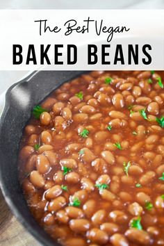 Baked Beans Recipe Vegan, Crock Pot Baked Beans, Vegan Recipes One Pot, Baked Beans Salad, Vegetarian Bean Recipes, Healthy Baked Beans, Easy Bean Recipes, Vegetarian Baked Beans, Easy Baked Beans