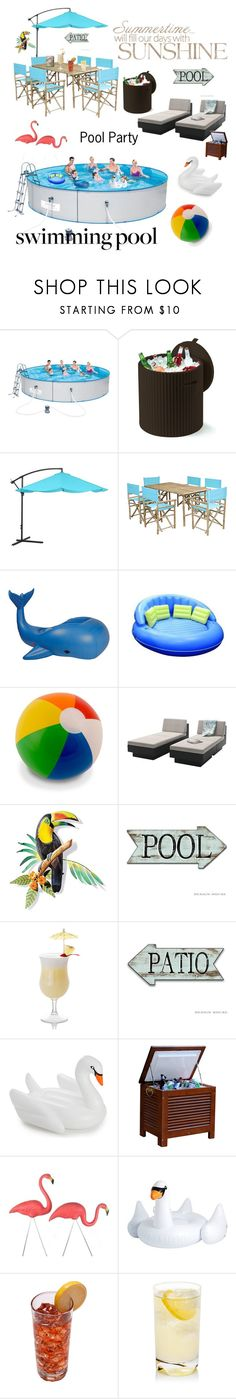 """""""Summer Fun"""" by kotnourka ❤ liked on Polyvore featuring interior, interiors, interior design, home, home decor, interior decorating, Keter, Pure Garden, Sunnylife and Sonax"""